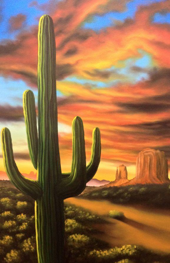 Arizona Sunset + Saguaro - Choko Art | Your Artwork ...