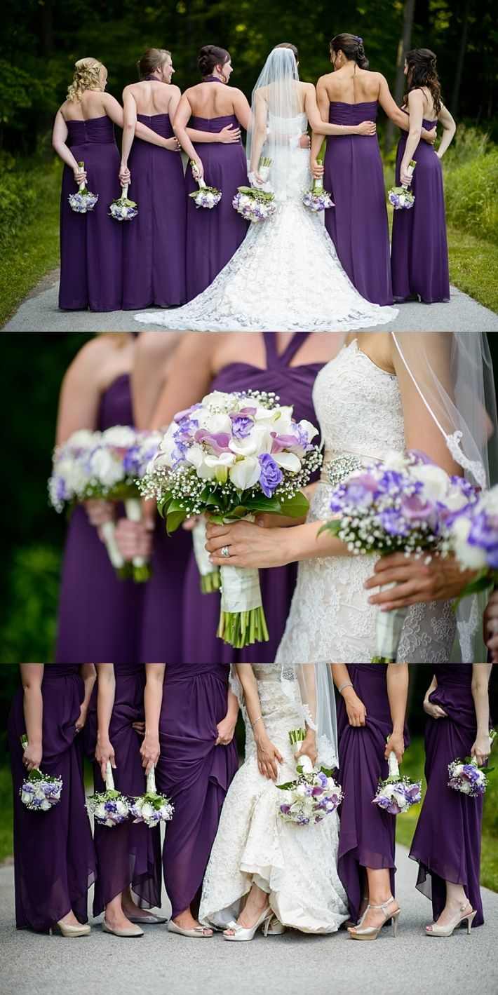 Damas de Honor en vestido morado