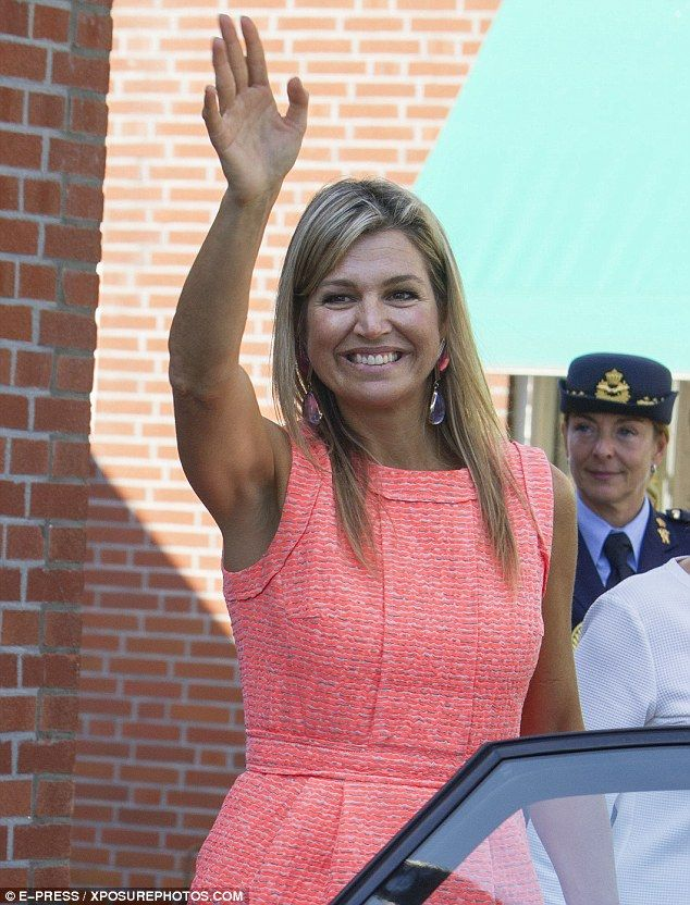 Queen Maxima of the Netherlands ditches her heels for flats in Zeeland province | Daily Mail Online