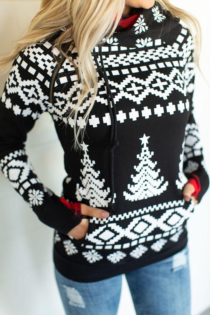 Doublehood sweatshirt deck the halls fashion double