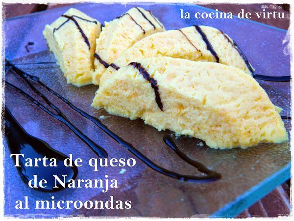 Tarta de queso de Naranja al microondas