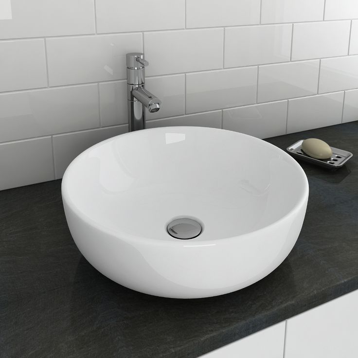 Shop the beautifully designed Sol Round Counter Top Basin. 405mm in diameter. Now in stock and available online at Victorian Plumbing.co.uk.
