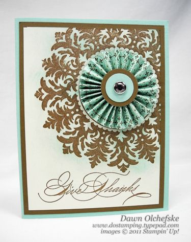 Stampin Up Medallion Stamp.  Gorgeous!
