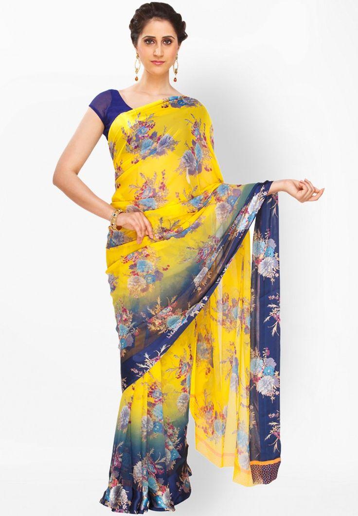 Multi Printed Saree