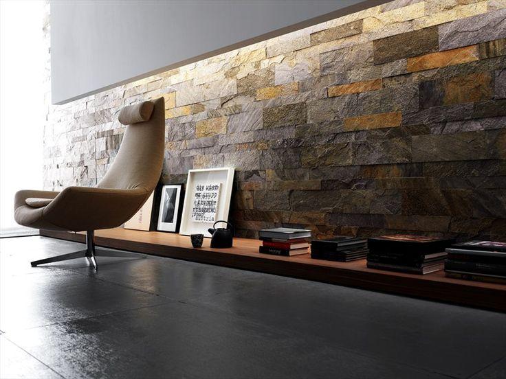 Pavimento/rivestimento in ardesia MAXI MURALES - ARTESIA® / International Slate Company: Artesia Maxi Murales Golden Grey