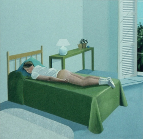 Early David Hockney in late 60s.