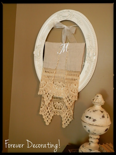 Antique Oval Picture Frame Project... Forever Decorating!: Quick Change Beauty!