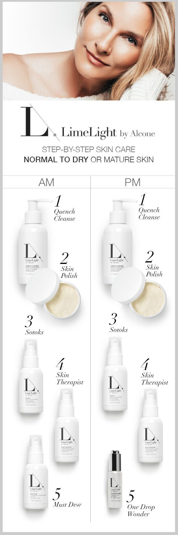 Vegan, all natural, cruelty free skin care for acne prone skin, Normal to dry skin or combination skin. Limelight by Alcone
