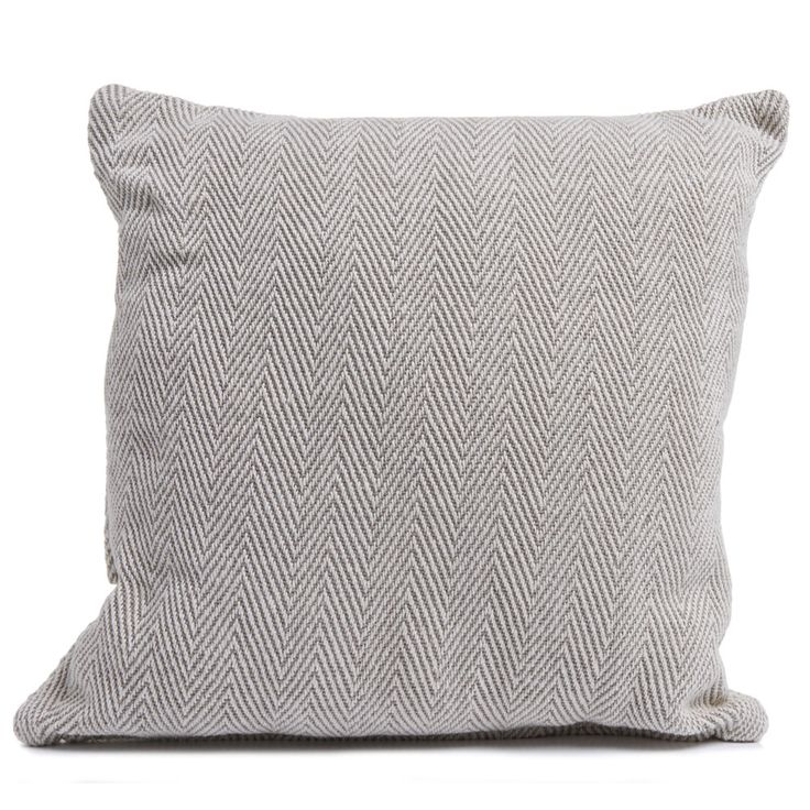 Natural Herringbone Cushion 43 x 43cm Large grey
