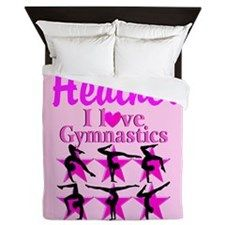 I Love Gymnastics Queen Duvet Awesome personalized Gymnastics designs available on Tees, Apparel and Gifts. http://www.cafepress.com/sportsstar/10114301 #Gymnastics #Gymnast #WomensGymnastics #Gymnastgift #Lovegymnastics #PersonalizedGymnast