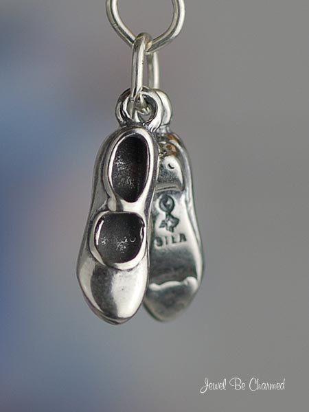 Tap Shoes Charm Sterling Silver for Tap Dancer by jewelbecharmed