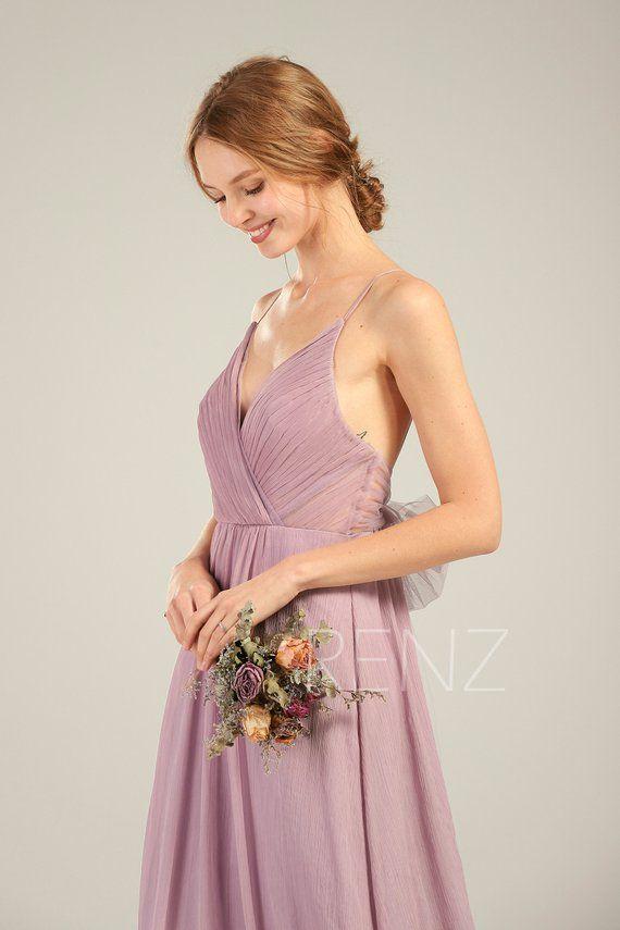 Dusty Lavender Chiffon Dress