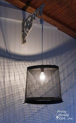 8 best diy outdoor lighting images on pinterest exterior lighting creating minnow trap light pendants mozeypictures