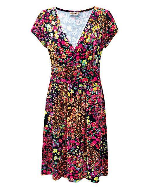 JOE BROWNS ORIENTAL FLORAL DRESS   Fifty Plus