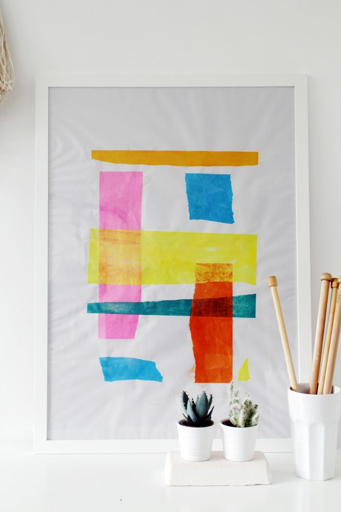 DIY Tissue Paper Art How-To by Fall for DIY at Design*Sponge #diy #howto