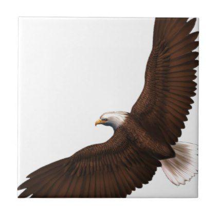 Soaring Bald Eagle Tile Zazzle boy gifts Pinterest Birds