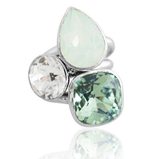 Florence Summer 2018 Stacker Ring Set #bling #MarisaKateDesigns #Swarovski #crystal #jewel #sterlingsilver