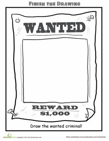 Finish the Drawing: Draw the Wanted Criminal! | Education.com