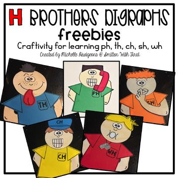 Do you use the H Brothers and their stories when introducing digraphs? If so, then these FREE posters will be perfect for your lessons. I created these posters to hang up in the room to remind my students of these digraph sounds. You could also use these templates for your students to create the H Brothers to display along with their learning.
