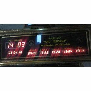 Jam digital masjid jual jadwal sholat digital otomatis murah Lampung