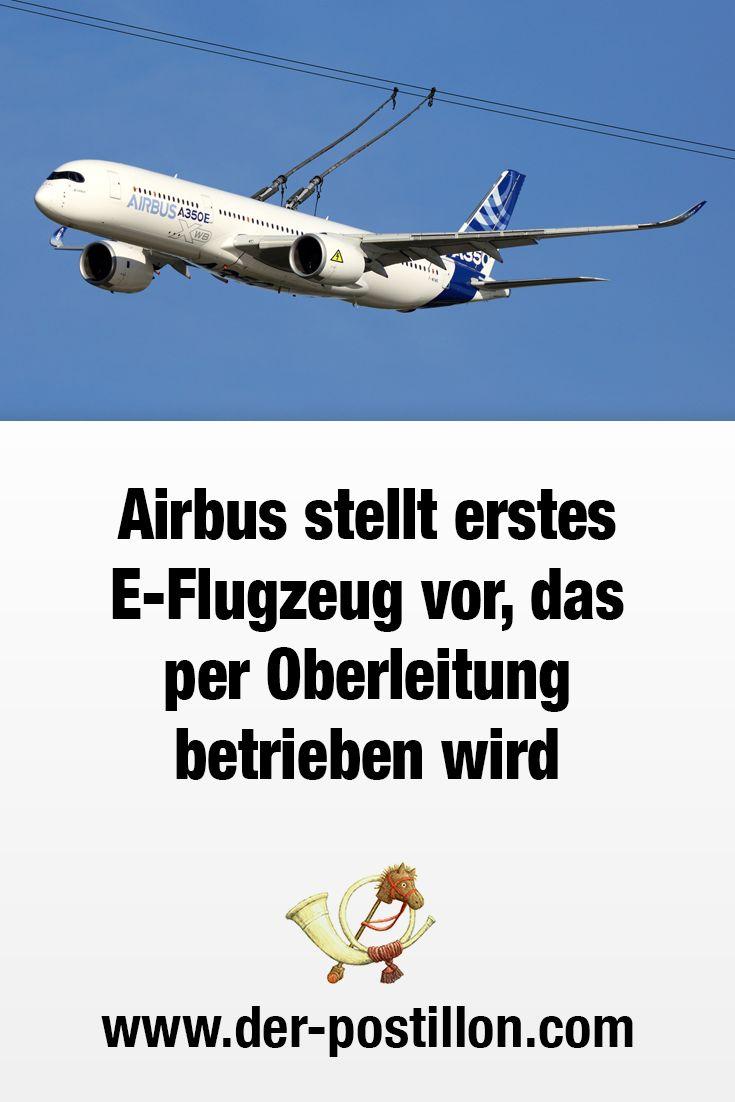 Airbus stellt erstes E-Flugzeug vor, das per Oberleitung betrieben wird