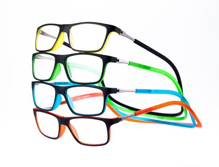 Óculos de leitura com fechamento frontal magnético e haste flexível ajustável. #eyewear #bereader #óculos #Llevant