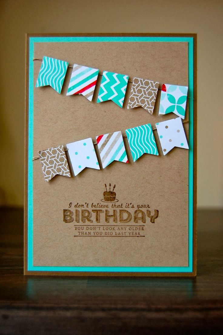 Julie's Japes - A Top UK Independent Stampin' Up! Demonstrator : Male birthday card