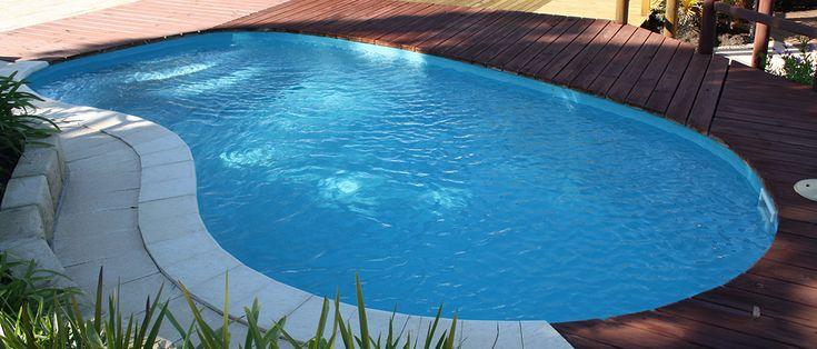 Maxi-Swim - 6m x 3.1m, 1.1m - 1.64m depth. http://www.sapphirepools.com.au/swimming-pools/maxi-swim/