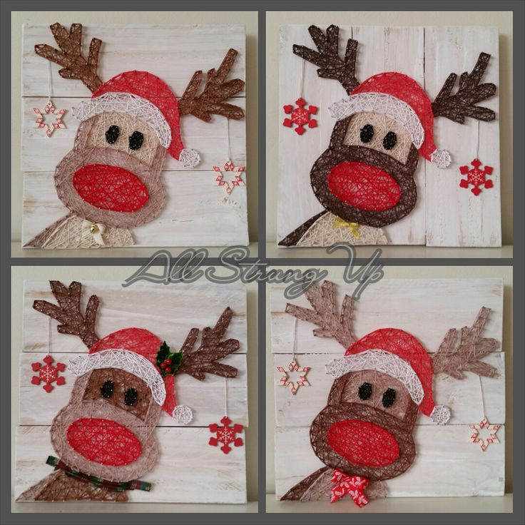 Thanks for looking. Rudolph reindeer with hat christmas String Art, Made by hand with love in NSW, Australia. Find the rest of my pictures at the following places.  Find my website at www.allstrungup.com.au Find me on Instagram at https://www.instagram.com/all_strung_up/ Find me on Facebook at https://www.facebook.com/All-Strung-Up-915873695199667/?ref=hl