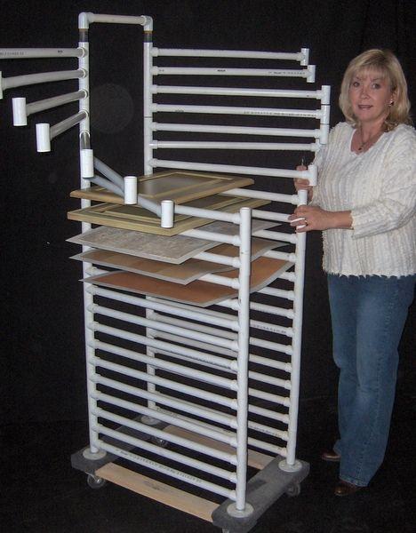 PVC swinging drying racks...