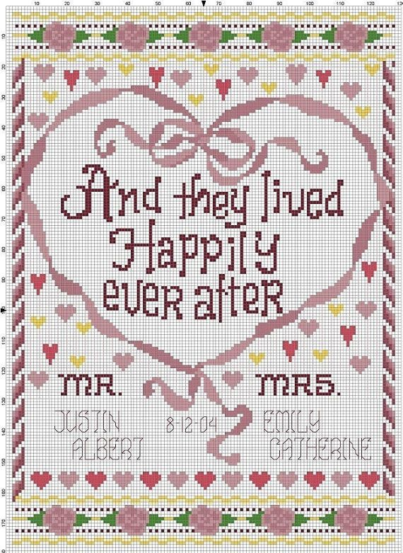 61 best Needlework - Wedding Samplers images on Pinterest | Punto ...