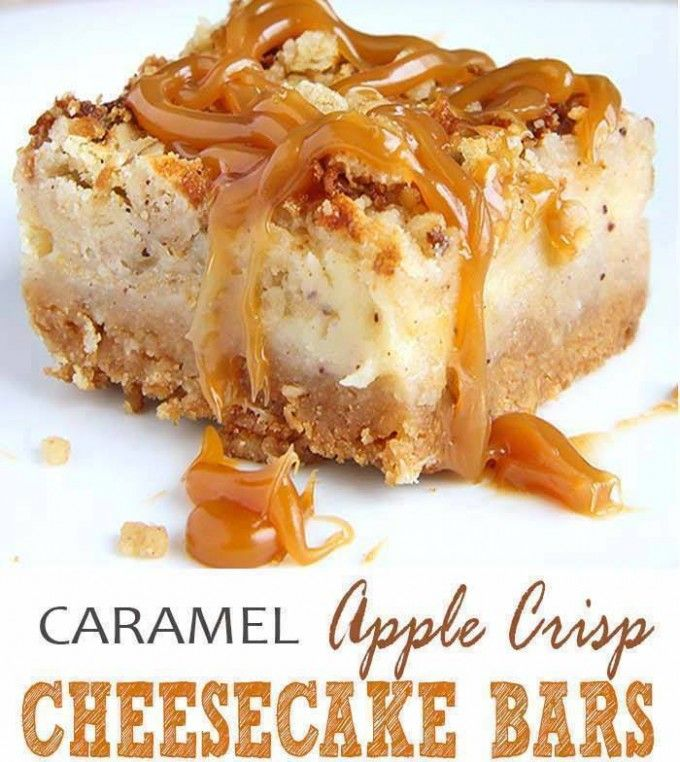 17+ Ideas About Apple Crisp Cheesecake On Pinterest