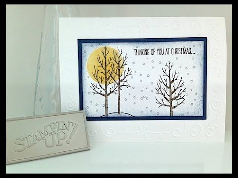 Simply Simple FLASH CARD - White Christmas Card by Connie Stewart