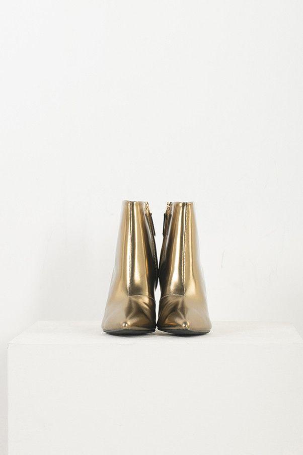 Metallic High Heel Boots