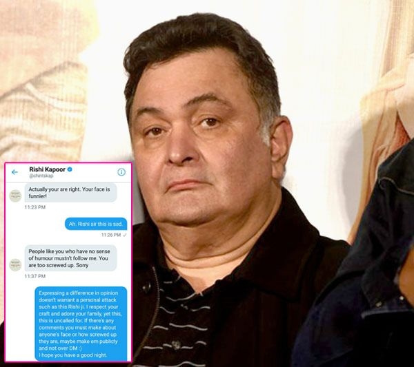 Rishi Kapoor again abuses a woman on twitter after she found his tweet on Beyonce 'Not funny' #FansnStars