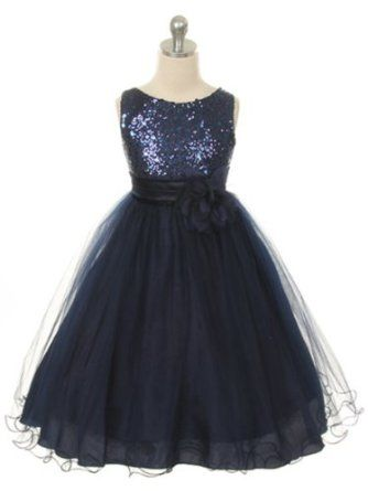 Amazon.com: Absolutely Beautiful Sequined Bodice with Double Tulle Skirt Party flower Girl Dress: Clothing