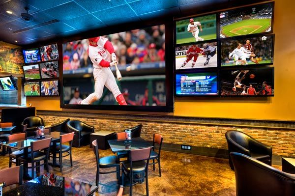 Frankie's Sports Bar in Fort Worth - one of the largest TVs in the metroplex