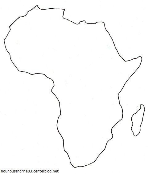 activité manuelle : la carte africaine