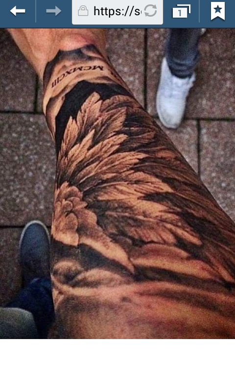 Really want a forearm wing tattoo x