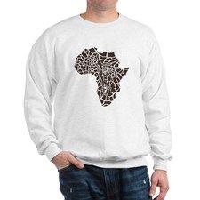 Africa in a giraffe camouflage Sweatshirt
