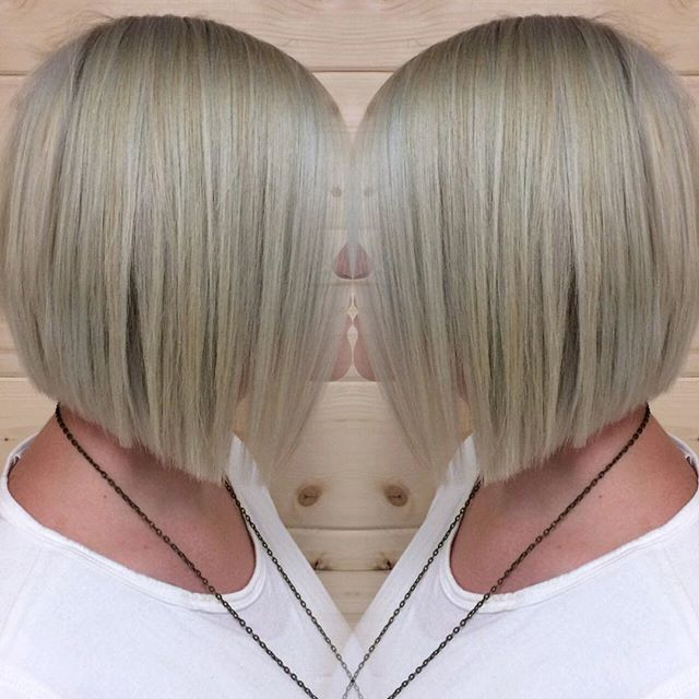 classic short straight blunt bob cut for women