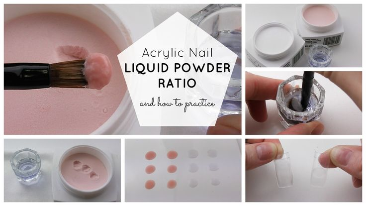 Acrylic Nails - Liquid Powder Ratio Explained and How to Practice to Per...