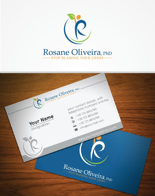 16 best name card images on pinterest logo designing business create feminine and luxurious logo business card for diet and genetics expert by sarjon reheart Choice Image