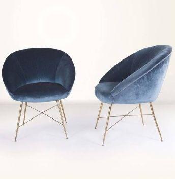 Cute navy velvet chairs
