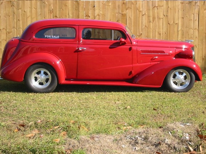 Our 1937 Chevy 2 Door Sedan For Sale-350 Chevy Motor, 350 Trans Automatic, Vintage Air .