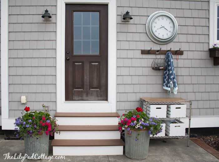 Saving my outdoor furniture - The Lilypad Cottage - trash can flower planters
