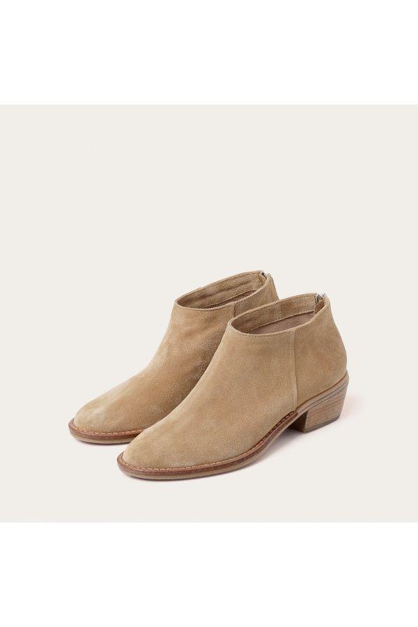 Lea Botki Piaskowy Zamsz Balagan Studio Boots Ankle Boot Shoes