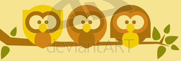Owls by ~Tabbathehutt on deviantART: For some reason this print is a hot seller around the holiday season.