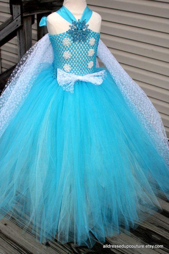 Elsa Inspired FROZEN Tutu Dress Pageants by AllDressedUpCouture, $65.00