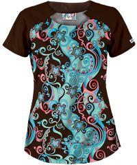 Ambo para mujer con arabescos. #printscrubs #uniforms